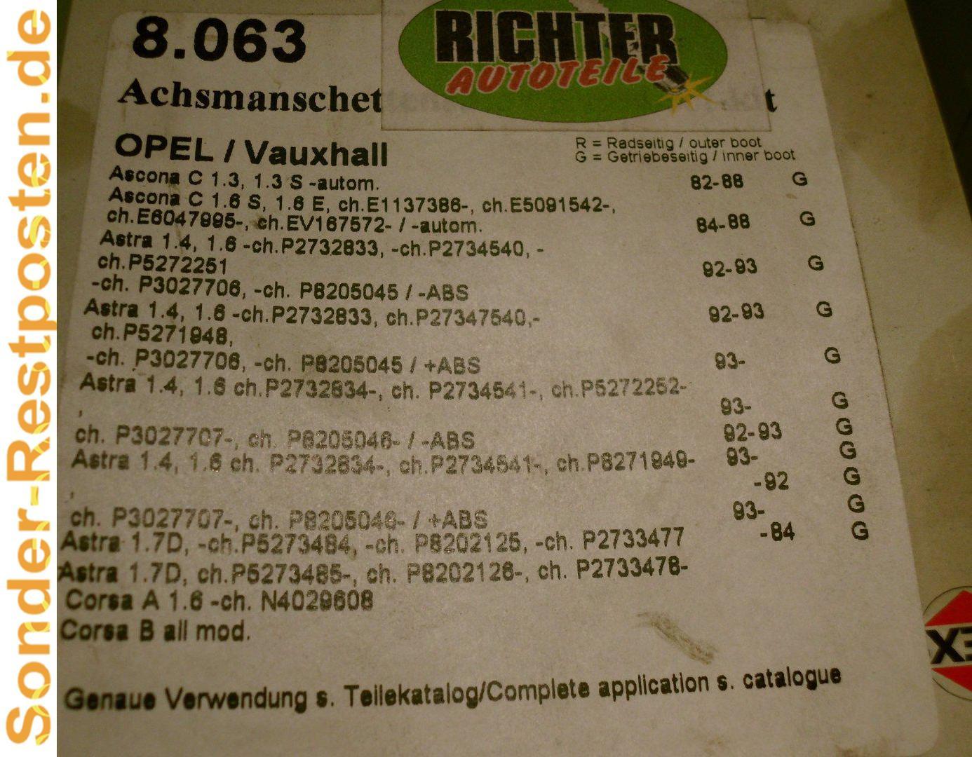 Febi Achsmanschetten Satz außen Citroen Ax Peugeot 106 205 309
