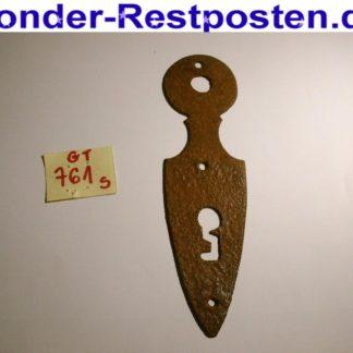 Alter Schlüssellochbeschlag Beschlag Schlüsselloch Schlüsselblende | GS761