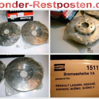 Bremsscheiben MAPCO 15117 RENAULT NT1713