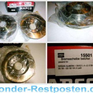 Bremsscheiben MAPCO 15501 NISSAN NT1744