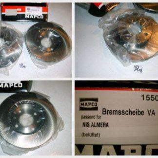 Bremsscheiben MAPCO 15503 NISSAN NT1718