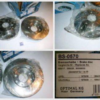 Bremsscheiben Optimal BS0570 OPEL NT1655