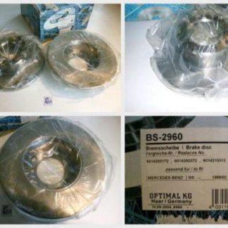 Bremsscheiben Optimal BS2960 MERCEDES NT1651