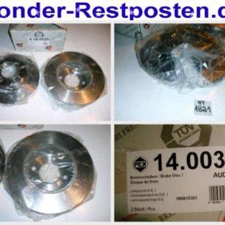 Bremsscheiben PEX 14.0035 140035 AUDI NT1821
