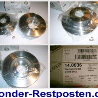 Bremsscheiben PEX 14.0036 140036 VW NT1804