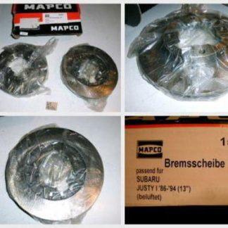 Bremsscheiben MAPCO 15587 SUBARU NT1686