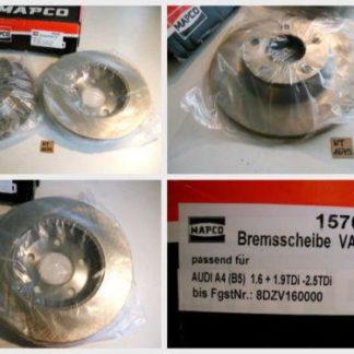 Bremsscheiben MAPCO 15702 AUDI NT1679