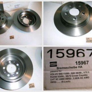 Bremsscheiben MAPCO 15967 VOLVO NT1699