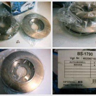 Bremsscheiben Optimal BS1790 NISSAN NT1637