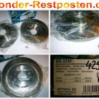 Bremsscheiben Optimal BS2250 HONDA NT1617