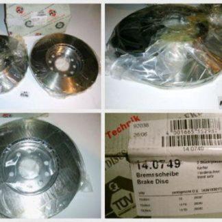 Bremsscheiben PEX 14.0749 140749 VW NT1796