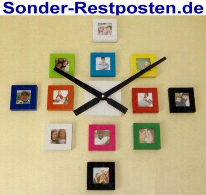Wanduhr m. 12 Bilderrahmen Bilderuhr Fotouhr Uhr | GM213