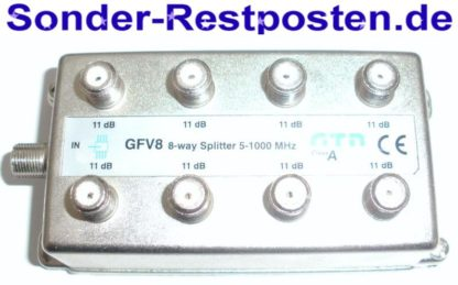 Verteiler GTN GFV8 8 x 11dB 8-way Splitter 5-1000 MHz   GS166