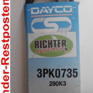 Keilrippenriemen Dayco 290K3 3PK735 | NT228