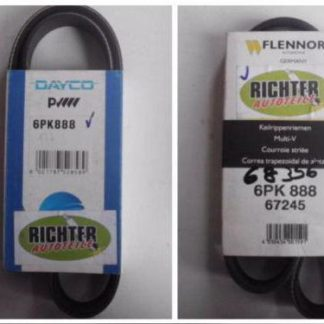 Keilrippenriemen Dayco Flennor 6PK888 67245 | NT297