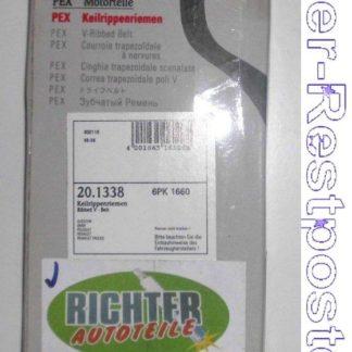 Keilrippenriemen PEX 201338 6PK1660 | NT328