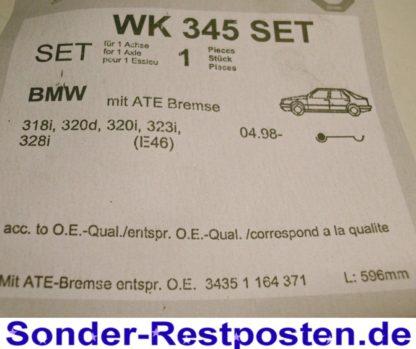 Original PEX Warnkontakt Verschleißanzeiger Bremsbelag WK 345 SET NT2640